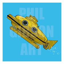 "Orignal ""Deep Search"" Life Aquatic Art Print Blu Poster Wes Anderson Bill Murray"