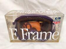 Oakley E Frame Goggles US Ski Team Purple 1980s Collectible Ski Snowboard Vtg