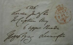 Free Front: 1836 to Leamingon from George Stevens Byng, 2nd Earl of Strafford.