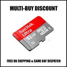 NEW 32GB SanDisk Ultra Micro SD SDHC Memory Card Adapter 98MB/s Class 10 UK