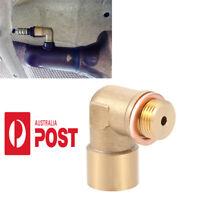 1pc 90 Angled O2 Oxygen Sensor Extender Spacer For Decat Hydrogen Brass M18x1.5