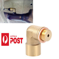 1pc 90 Angled O2 Oxygen Sensor Extender Spacer For Decat Hydrogen Brass M18x1.5