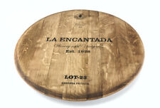 Wine Barrel Lazy Susan W/ bottom Metal Small 26'' Handmade Extra Large