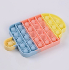 Push Pop Bubble It Silicone Sensory Fidget Rainbow Toy Autism Stress Relief Game