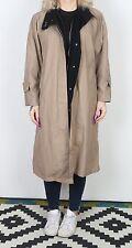 Trench coat imperméable UK 14 Grande Mac mi longue doublée marron (43 H)