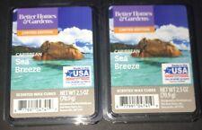 2  BETTER HOMES & GARDENS Wax Melts CARIBBEAN SEA BREEZE/ 2.5 Oz Each