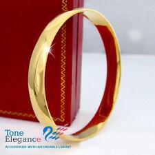 9ct yellow gold filled GF Soild plain womens bangle bracelet