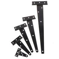 Black Paint T Shape Triangle Hinge Cabinet Shed Wooden Door Gate Hinges Hard ih