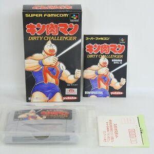KINNIKU MAN DIRTY CHALLENGER MINT Super Famicom Nintendo 6327 sf