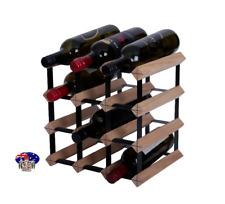 12 Bottle BORDERS Timber Wine Rack  NATURAL PINE - DIY KIT