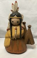 Native American Girl Wall Decoration Burwood Prod. Co. Made In The USA