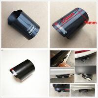 1 Pcs 76mm/3'' Car Exhaust Muffler Tip Pipe Carbon Fiber Cover Case Shell w/Logo