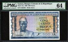 Guinea 1960, 500 Francs, P14, PMG 64 UNC