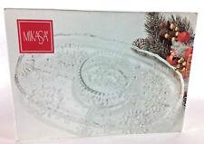 Mikasa Snowflake Pattern Clear Glass Divided Chip & Dip Serving Dish SA 960/96