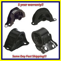 Engine Motor Mount Set 4PCS. 1992-1995 for Honda Civic, Civic del Sol 1.5L, 1.6L