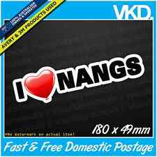 I <3 Nangs Sticker/ Decal - Car Ute Drugs Funny Nitrous Cracker Nang N2O Bulb