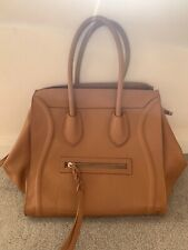 VERA PELLE BROWN LEATHER TOTE BAG IN EXCELLENT CONDITION