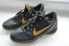 Nike Zoom Kobe 6 Black Yellow Basketball Shoes Trainers Size US8/UK7/EU41/26cm
