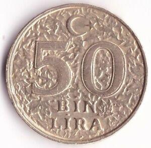 50 Bin Lira (50.000 Lira) 1998 Turkey Coin KM#1056