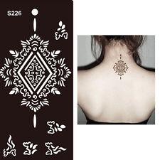 Henna Diamante Negro Encaje Flor negro manos Art Stencils Plantillas Cuerpo Pintura