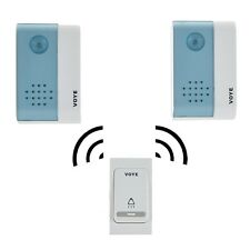 Wireless Doorbell Door Bell - 1 Remote Control +2 Digital Doorbell Receiver USA