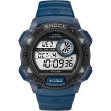 Orologio Uomo TIMEX SHOCK TW4B07400 Digitale Silicone Blu Nero Chrono Timer