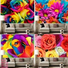 Colorful Rose Flowers Pattern Tapestry Wall Hanging Hippie Tapestries Home Decor
