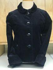 J.Crew Women's Corduroy Blazer Jacket Stretch Cotton- Black-Size 0