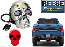 Reese Towpower 86523 Chrome Finish Skull Lighted Hitch Cover New Free Shipping