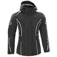 Womens Motorbike Motorcycle Ladies Waterproof Cordura Jacket Protection M Black With Hoodie