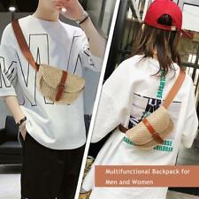 Women Straw Waist Belt Chest Bag Fanny Pack Summer Beach Handbag Purse Pouch