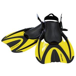 Snorkel Master Adult Yellow Swimming Snorkeling Fins