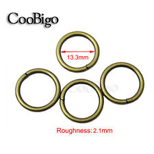 """50x 1/2""""Dia. Matel O Ring Non Welded For Connection And Decoration Antique Brass"""