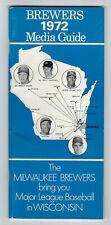 1972 Milwaukee Brewers media guide George Scott Ken Sande cover vintage original