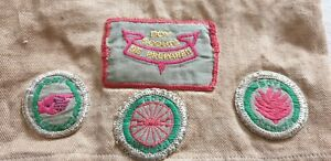 Vintage 1930's Australian Boy Scout Cloth Patch Badges