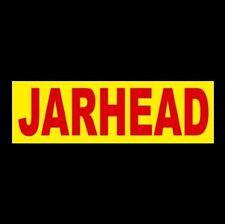 """JARHEAD"" United States Marine Corps BUMPER STICKER window decal, USMC Devil Dog"