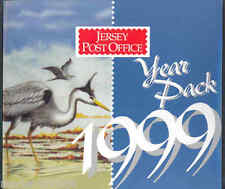 JERSEY 1999 YEAR PACK CONTAINING ALL COMMEMORATIVE ISSUES MINT NH AS SHOWN
