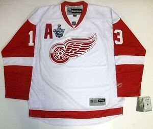 PAVEL DATSYUK DETROIT RED WINGS 2008 STANLEY CUP REEBOK PREMIER AWAY JERSEY NEW