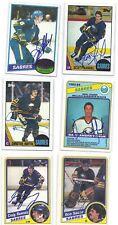 Christian Ruuttu Signed Hockey Card Buffalo 1987 Rookie