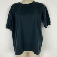 Escada Womens size 38 Medium Black Crew Neck Tshirt with Embroidered 'E'