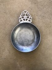 "Vintage Stede Pewter Porringer Dish 6""  (8 1/2"" Widest With Handle)"