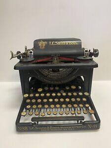 Antique 1920's L.C. Smith & Bros Typewriter Co. #8 Syracuse NY USA