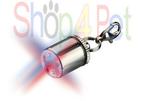 DOGS LED LIGHT SAFETY LIFE FLASHER for DOG COLLARS TRIXIE PET BATTERYS INCLUDED
