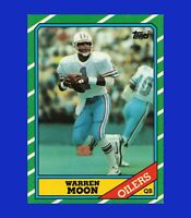 1986 Topps #350 Warren Moon EX-EXMINT or BETTER - $1 COMBO SHIPPING
