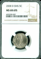 2008-D JEFFERSON NICKEL NGC MS-68 FS SMS RARE 2ND FINEST GRADE .