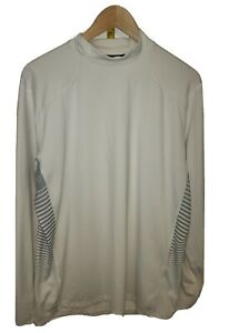 Under Armour XL Cold Gear Reactor Turtle Neck Long Sleeve Top White Reflective