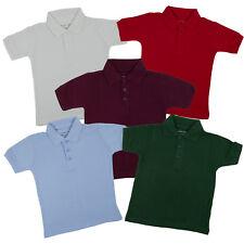 Toddlers Unisex Pique Polo Boys & Girls Galaxy Uniform Short Sleeve Size 2T - 4T