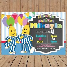 Personalised BANANAS IN PYJAMAS Pajamas Kids Party Invitations DIGITAL YOU PRINT