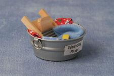 Lavaggio vasca con accessori, casa delle bambole. in miniatura scala 1.12 Accessorio per Biancheria