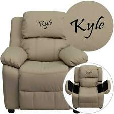 Custom Designed Kids Recliner with Storage Arms and Headrest Personalized